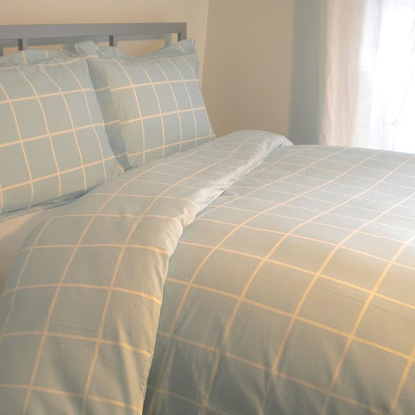 Blue Check Bedding for Sale