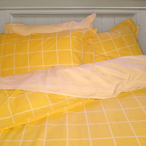 Yellow cotton duvet cover