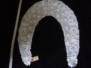 Irish handmade crochet lace collar