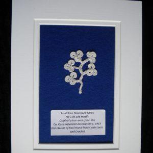 Irish crochet lace shamrocks