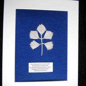 Antique Irish Crochet Lace Leaf Spray Motif